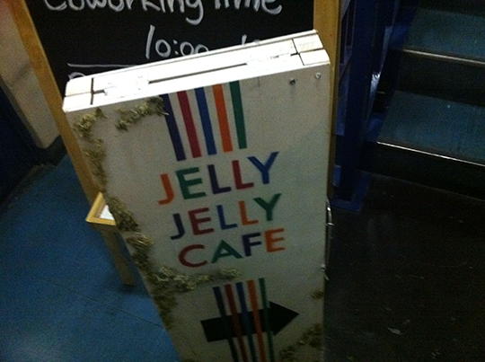 JELLY JELLY CAFEの看板2