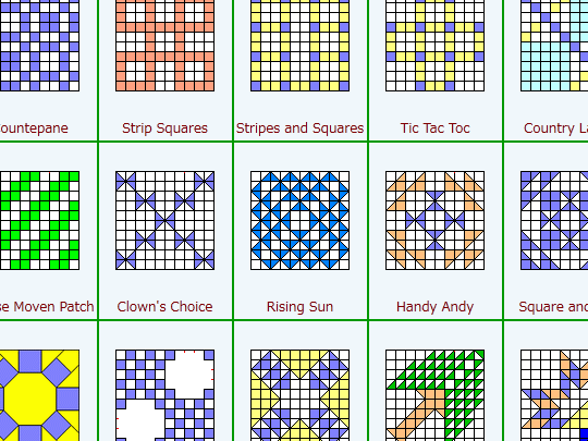 パッチワークーパターン集