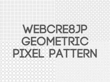 WEBCRE8.jp Geometric pixel pattern