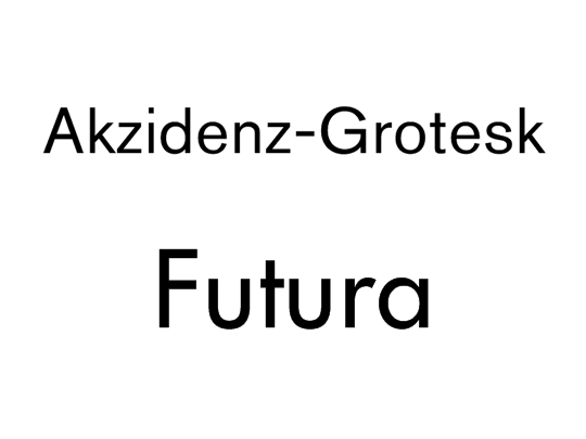 Akzidenz-GroteskとFutura