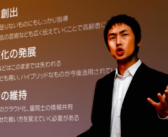 現代に生きる忍者について熱弁を振るう大川先生(無職)