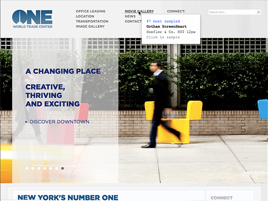 One World Trade CenterのWebサイト